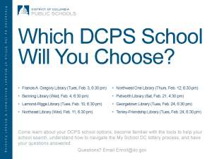 Which DCPS School Will You Choose Flyer