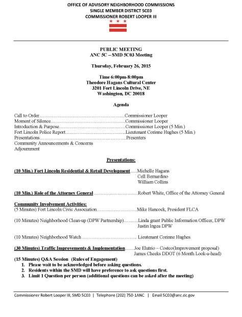 SMD 5C03 - 2015 02 26 Agenda