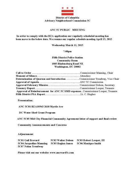 ANC 5C Agenda 3-11-15