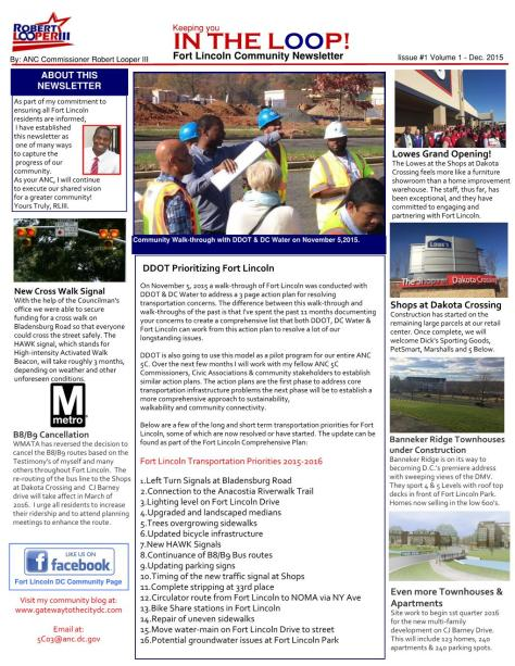 Fort Lincoln Newsletter 2015.12