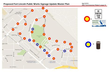 Fort Lincoln Signage Public Works Plan Draft
