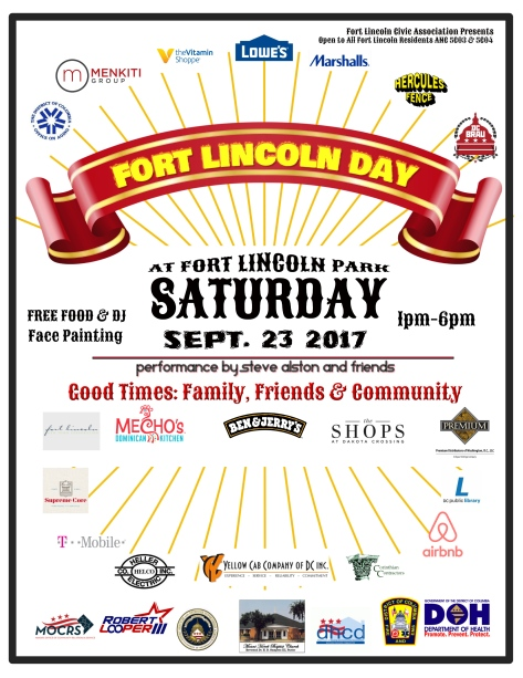 Fort Lincoln Day Flyer